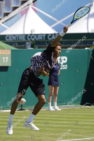 Jubb (GBR) Vs Istomin (UZB) Action at the Nature Valley International Eastbourne 2019 at Devonshire Park, Eastbourne. Picture by Jonathan Dunville