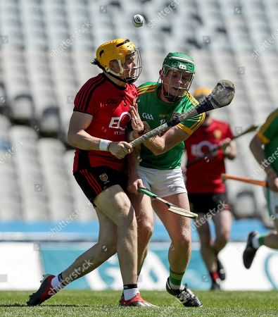Down vs Meath. Down's Caolan Taggart and Jack Regan of Meath