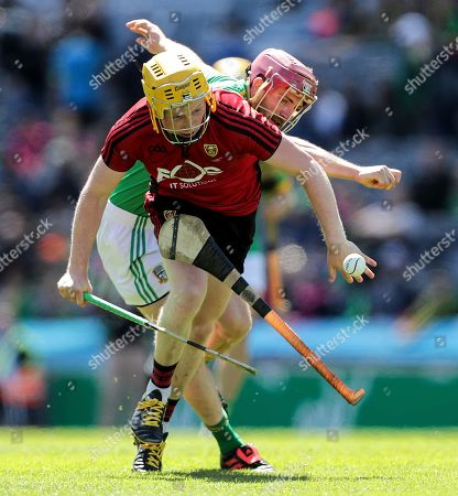Stock Picture of Down vs Meath. Down's Oisin McManus and Ger Murphy of Meath