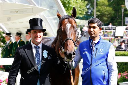 Charlie Appleby with Blue Point after victory in the Commonwealth Cup at Royal Ascot.