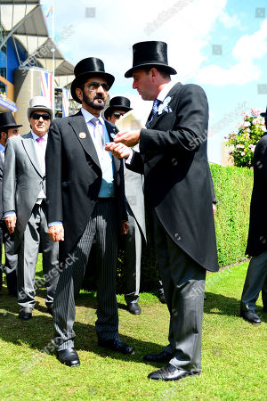 ROYAL ASCOT. Chesham Stakes PINATUBO won for trainer Charlie Appleby (right) and HH Sheikh Mohammed.