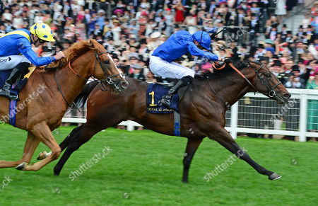ROYAL ASCOT. Diamond Jubilee Stakes. BLUE POINT and James Doyle win from DREAM OF DREAMS for trainer Charlie Appleby.