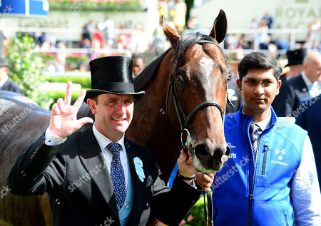 ROYAL ASCOT. Diamond Jubilee Stakes. BLUE POINT and groom Ameet Tikare won for trainer Charlie Appleby.