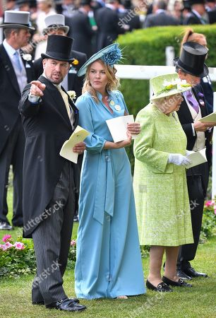 Stock Image of Autumn Phillips, Peter Philips and Queen Elizabeth II