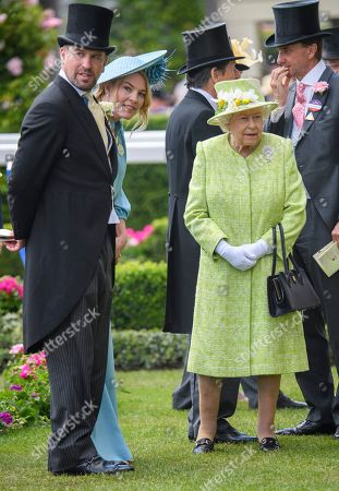 Peter Philips, Autumn Phillips and Queen Elizabeth II