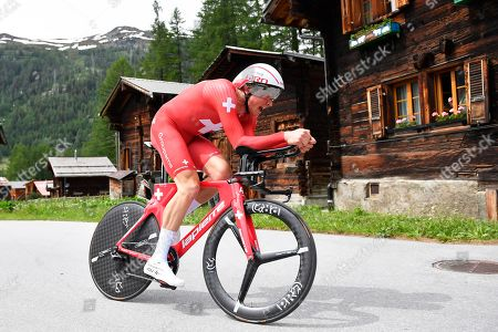 Stock Picture of Swiss rider Stefan Kueng of the Groupama-FDJ team in action during the eigth stage of the 83rd Tour de Suisse UCI ProTour cycling race, an individual time trial over 19.2km in Goms, Switzerland, 22 June 2019.