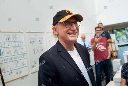 German comedian Otto Waalkes smiles at the Kunsthalle Emden, in Emden, northern Germany, 22 June 2019. The museum is presenting an exhibition of artworks by Otto, who was born in Emden, from 22 June to 22 September 2019.