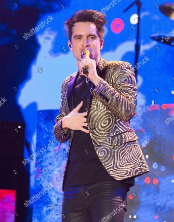 Brendon Urie of the band Panic! at the Disco performs on Day 1 of the 2019 Firefly Music Festival at The Woodlands, in Dover, Del