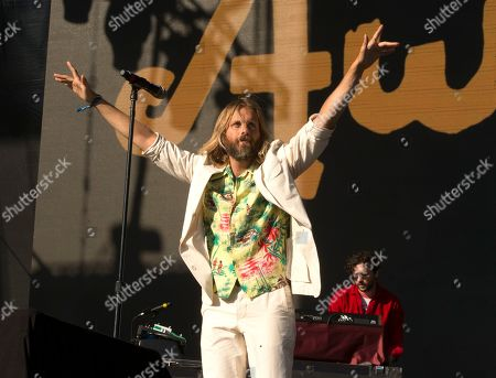 Stock Photo of Aaron Bruno of the band AWOLNATION performs on Day 1 of the 2019 Firefly Music Festival at The Woodlands, in Dover, Del