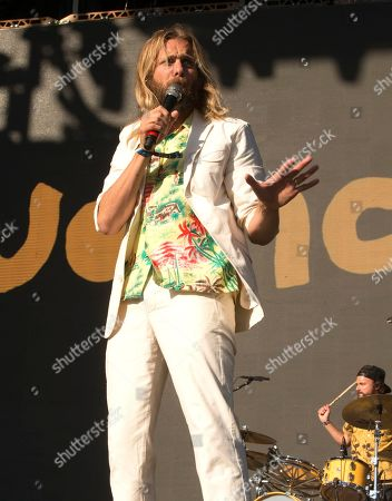 Aaron Bruno of the band AWOLNATION performs on Day 1 of the 2019 Firefly Music Festival at The Woodlands, in Dover, Del