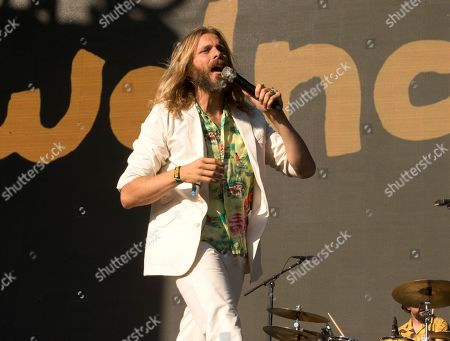 Stock Picture of Aaron Bruno of the band AWOLNATION performs on Day 1 of the 2019 Firefly Music Festival at The Woodlands, in Dover, Del