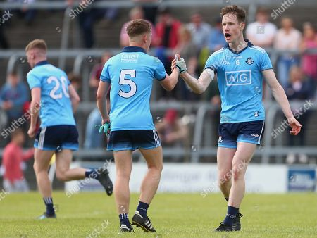 Stock Image of Westmeath vs Dublin. Dublin's Ben Harding and Senan Forker celebrate after the final whistle