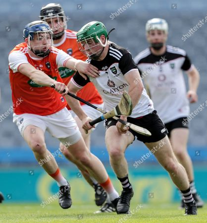 Armagh vs Sligo. Sligo's Rory McHugh and Dean Gaffney of Armagh