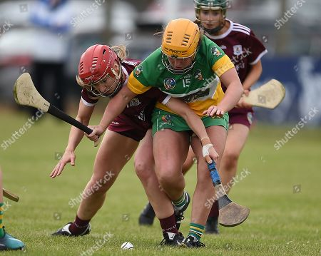 Offaly vs Galway. Galway's Teeny Cormican with Jean Brady of Offaly