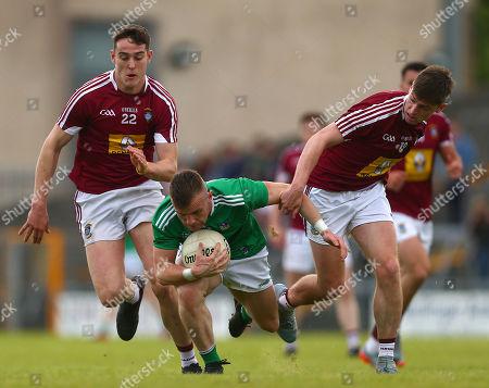 Westmeath vs Limerick. Westmeath's Dam Duncan and Jack Smith with Limerick's Jamie Lee