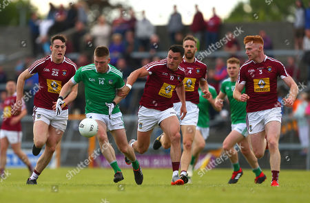 Westmeath vs Limerick. Westmeath's Sam Duncan, David Lynch, Kevin Maguire and Ronan Wallace with Limerick's Seamus O'Carroll