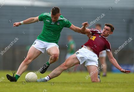 Westmeath vs Limerick. Jamie Lee of Limerick with Westmeath's Jack Smith