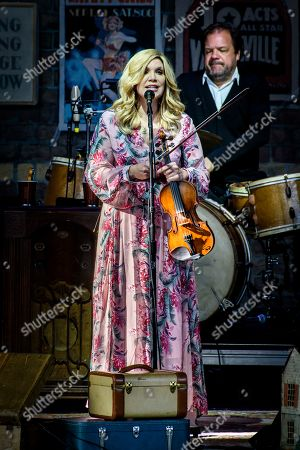 Stock Picture of American bluegrass-country singer, Alison Krauss, performed a sold out show in Toronto.