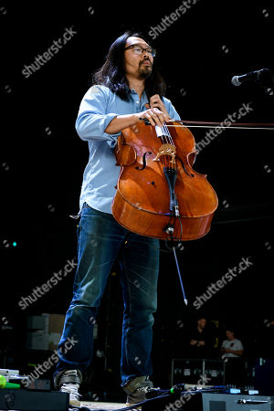 Joe Kwon of American folk rock band, The Avett Brothers, who performed a sold out show.