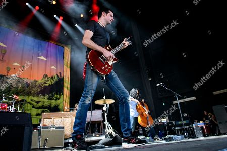 Stock Picture of Seth Avett of American folk rock band, The Avett Brothers, who performed a sold out show.
