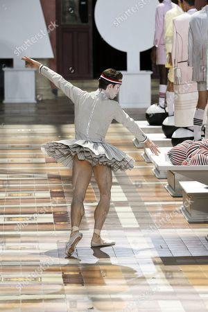 James Whiteside, principal dancer of the America Ballet Theater on the catwalk