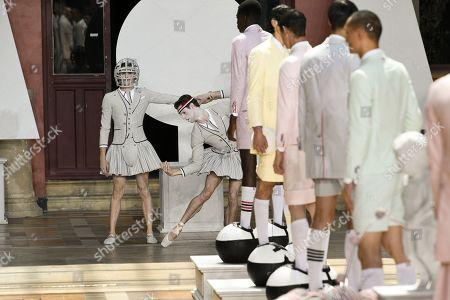 Editorial picture of Thom Browne show, Runway, Spring Summer 2020, Paris Fashion Week Men's, France - 22 Jun 2019