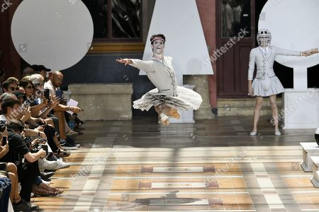 Stock Image of James Whiteside, principal dancer of the America Ballet Theater on the catwalk