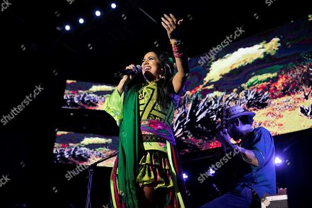 Lila Downs performs on stage during her concert in Las Palmas de Gran Canaria, Canary Islands, Spain, 22 June 2019.