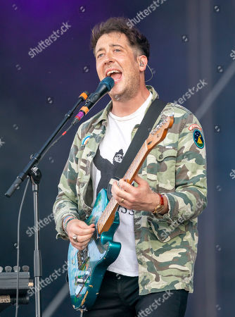 Matthew Murphy of the British rock band Wombats performs on stage at the Southside festival in Neuhausen ob Eck, Germany, 23 June 2019. The festival takes place from 21 to 23 June.