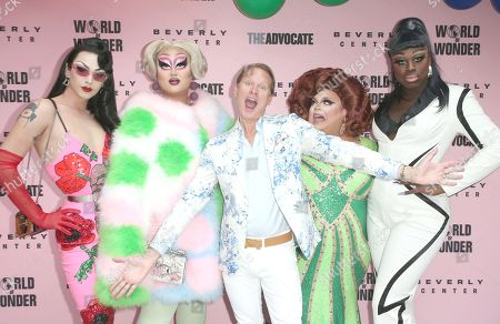 Stock Photo of Violet Chachki, Kim Chi, Carson Kressley, Ginger Minj, Bob the Drag Queen