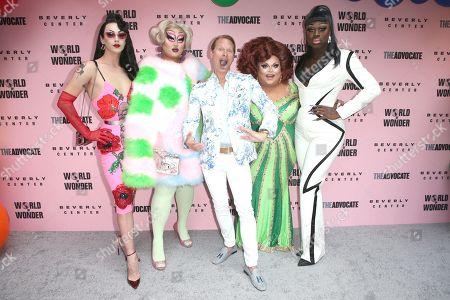 Stock Picture of Violet Chachki, Kim Chi, Carson Kressley, Ginger Minj, Bob the Drag Queen