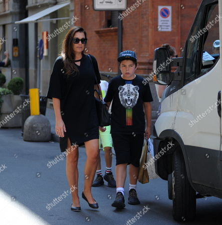 Editorial picture of Alena Seredova and children Louis Thomas and David Lee out and about, Milan,,Italy - 20 Jun 2019