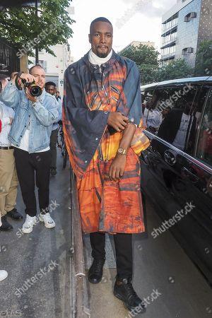 Editorial photo of Balmain show, Arrivals, Spring Summer 2020, Paris Fashion Week Men's, France - 21 Jun 2019