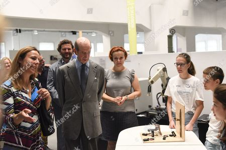 Duke of Kent visits the Museum of Science and Technology to see how the three-year project 'The 21st Century School' funded by the Government of Great Britain and implemented in the Western Balkans British Council' is going, Belgrade