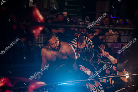 Editorial image of La Bulla v Tacolandia, Lucha Libre Wrestling, Plaza De La Raza, Los Angeles, USA - 22 Jun 2019