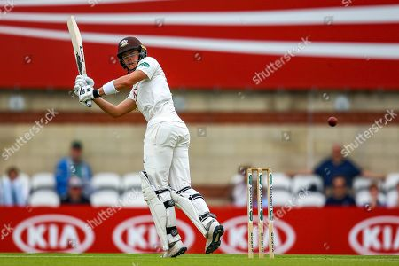 Jamie Smith of Surrey batting during the Specsavers County Champ Div 1 match between Surrey County Cricket Club and Warwickshire County Cricket Club at the Kia Oval, Kennington