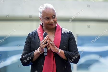US singer Barbara Hendricks reacts after performing during the inauguration ceremony of the Olympic house, the new International Olympic Committee (IOC) headquarters, in Lausanne, Switzerland, 23 June 2019. The IOC has opened its new 145 million USD headquarters on the the day marking the 125th anniversary of the IOC's creation.