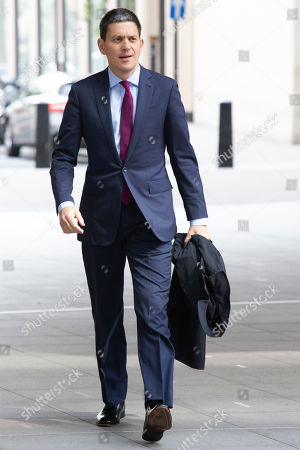 Chief Executive of the International Rescue Committee David Miliband arrives at the BBC