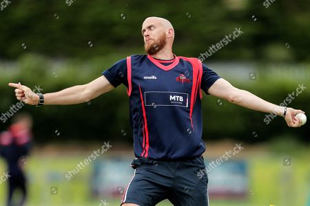 Munster Reds vs Northern Knights. Northern Knights' James Cameron-Dow during the warm-up