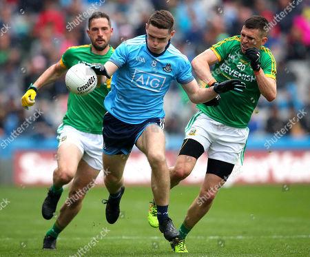 Stock Photo of Dublin vs Meath. Dublin's Brian Fenton and Shane McEntee of Meath