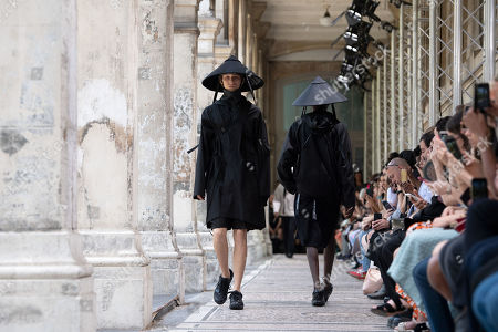 Models present creations from the Spring/Summer 2020 Men's collection by Japanese designer Masanori Morikawa for Christian Dada during the Paris Fashion Week, in Paris, France, 23 June 2019. The presentation of the Spring/Summer 2020 menswear collections runs from 18 to 23 June 2019.