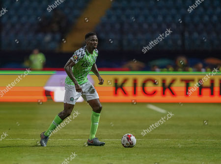 Kenneth Josiah omeruo of Nigeria during the African Cup of Nations match between Nigeria and Burundi at the Alexandria Stadium in Alexandia, Egypt