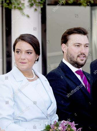 Princess Alexandra of Kent and Prince Sebastien of Luxembourg attend a service at the Notre-Dame Cathedrai in Luxembourg city
