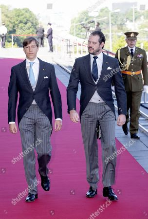 Prince Louis and Prince Felix attend a service at the Notre-Dame Cathedrai in Luxembourg city