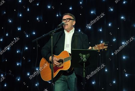 Picture shows Chris Difford, founder member of Squeeze, playing a Solo acoustic gig.
