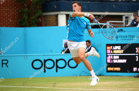 Joe Salisbury of Great Britain in action