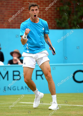 Joe Salisbury of Great Britain celebrates