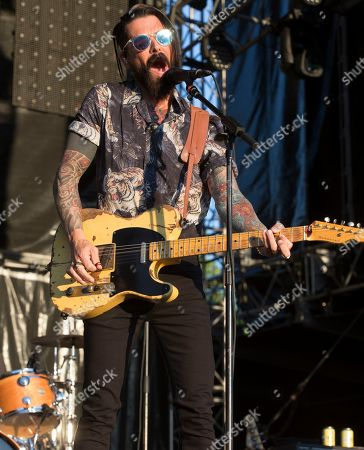 Chris Carrabba of the band Dashboard Confessional performs on Day 2 of the 2019 Firefly Music Festival at The Woodlands, in Dover, Del