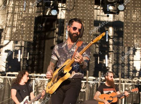 Stock Image of Chris Carrabba of the band Dashboard Confessional performs on Day 2 of the 2019 Firefly Music Festival at The Woodlands, in Dover, Del