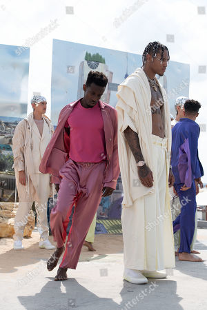 Models present creations from the Spring/ Summer 2020 Men's collection by French designer Stephane Ashpool for Pigalle fashion house during the Paris Fashion Week, in Paris, France, 23 June 2019. The presentation of the Spring/Summer 2020 menswear collections runs from 18 to 23 June 2019.